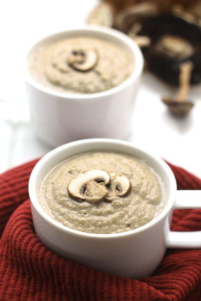 Dairy-Free Cream of Mushroom Soup #vegan