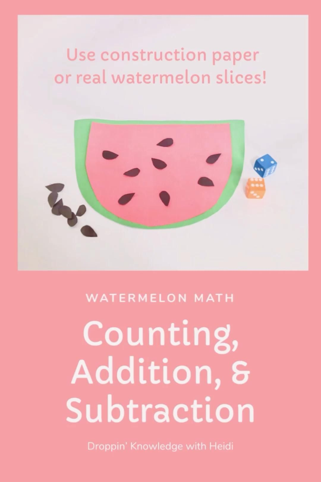 Watermelon Math Video Math Projects Preschool Math Math Activities [ 1620 x 1080 Pixel ]