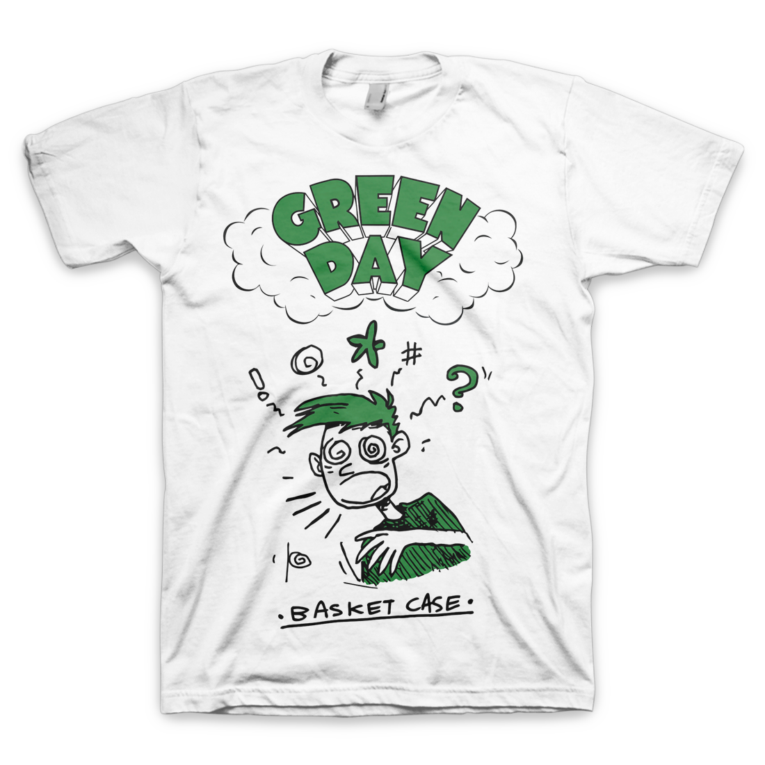 66fc822155a Basket Case T-Shirt – Green Day Store | Green day | T shirt, Green ...