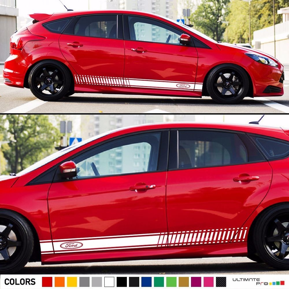 Decal Sticker Racing Stripe Kit For Ford Focus Rs St Wing Light