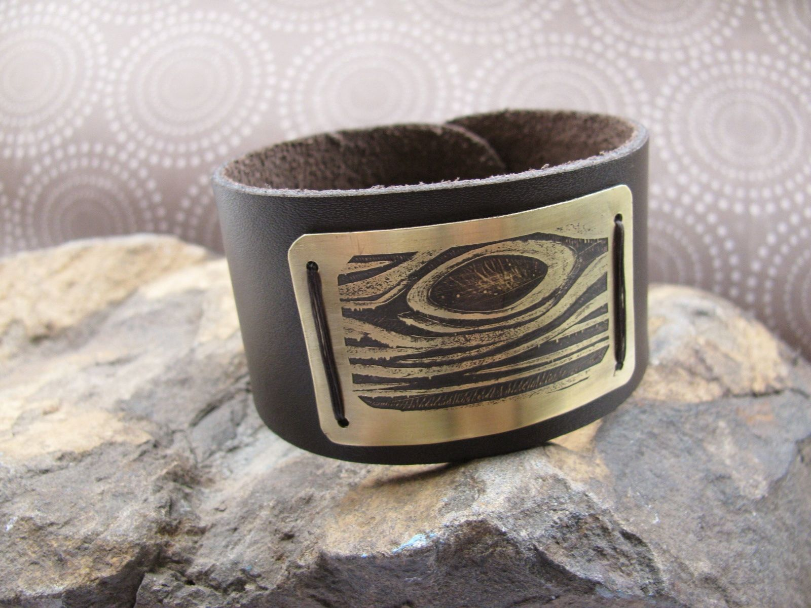The Man Cuff: How to make a Manly Etched Metal and Leather Cuff