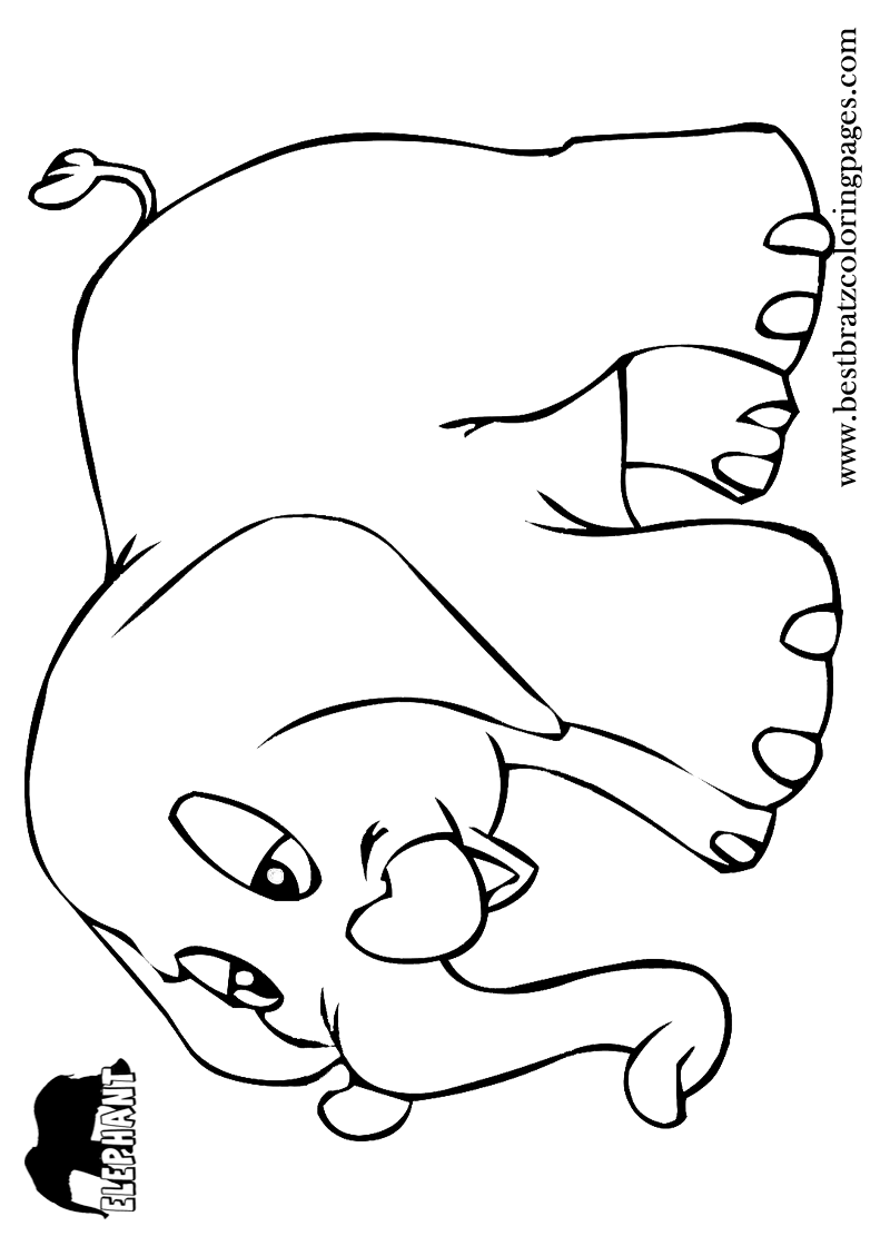 Free Printable Elephant Coloring Pages For Kids | Zoo | Pinterest ...