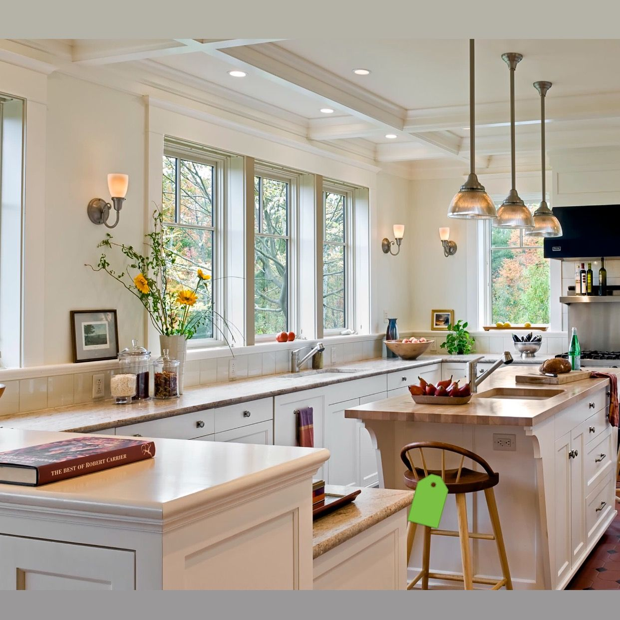 Bone white wall color BM Kitchens without upper