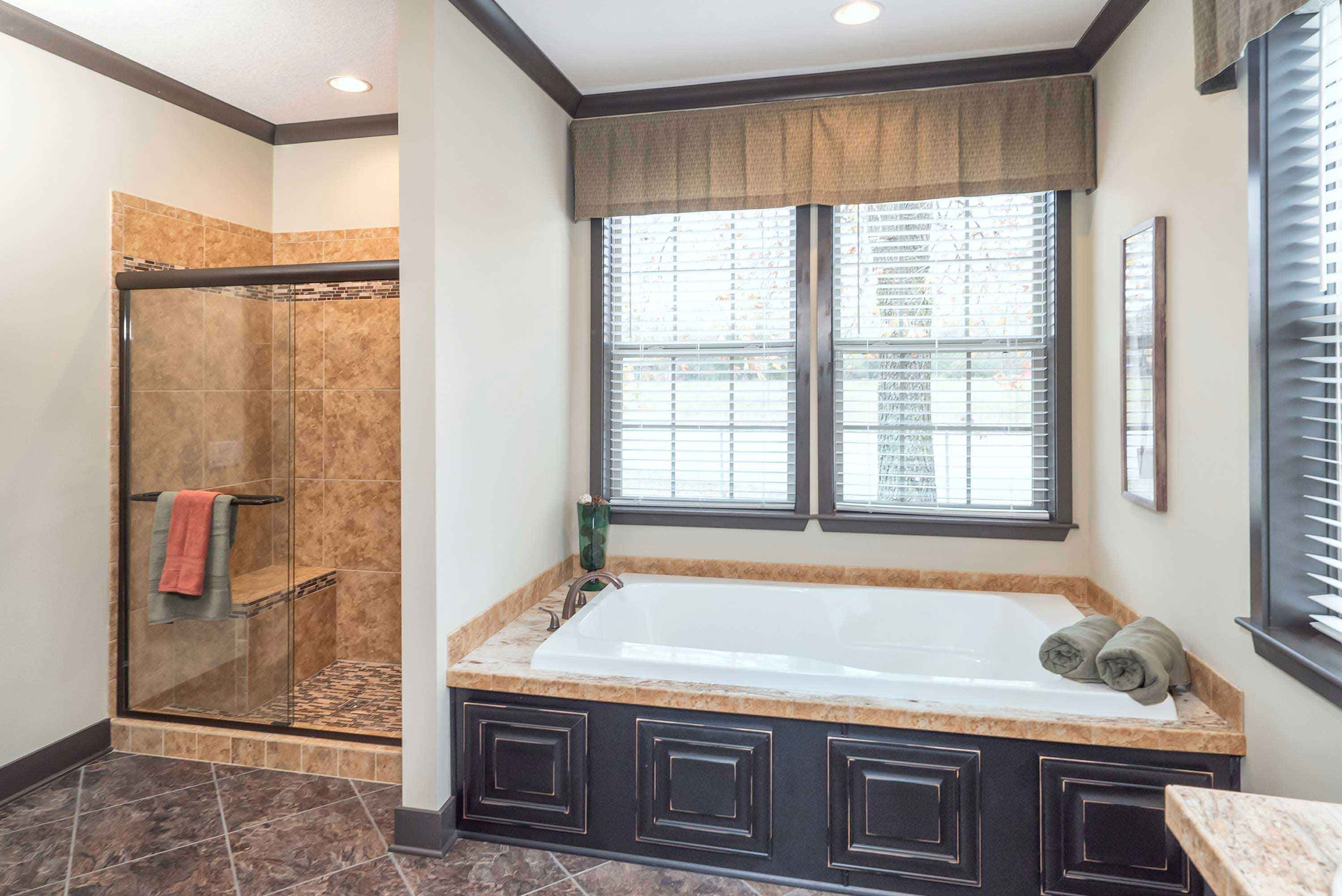 The Master Bath in the Franklin Nandina has both a walk in shower ...