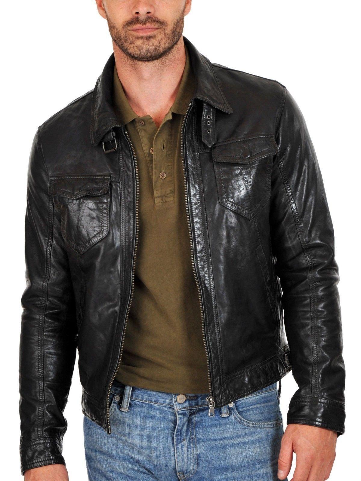 Mens Lembskin Leather Jacket Https Www Ryanlifestyle Com Collections Men Leather Jack Muzhskie Kozhanye Kurtki Muzhskoj Stil Chernaya Kozhanaya Kurtka [ 1600 x 1200 Pixel ]