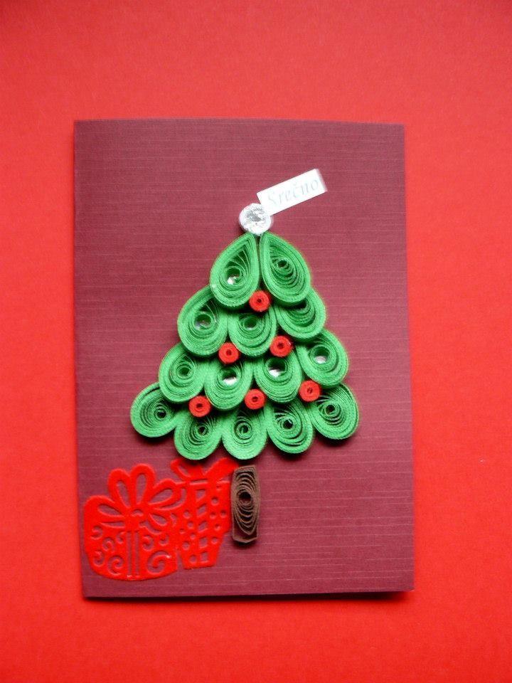 Voscilnica Https Www Facebook Com Mojca S Quilling Quilling Christmas Handmade Christmas Quilling Cards