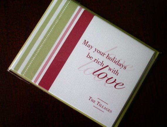 10 linen personalized holiday greeting card modern