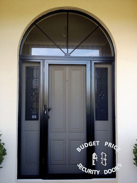 Good Looking And Safe Stainless Steel Security Door With Two Side Panels Steel Security Doors Security Door Doors