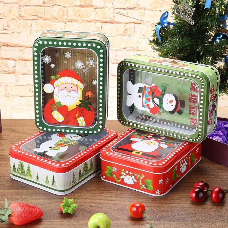 Günstige Nette Rechteck Weihnachten Geschenk Paket Zinn Box Candy ...