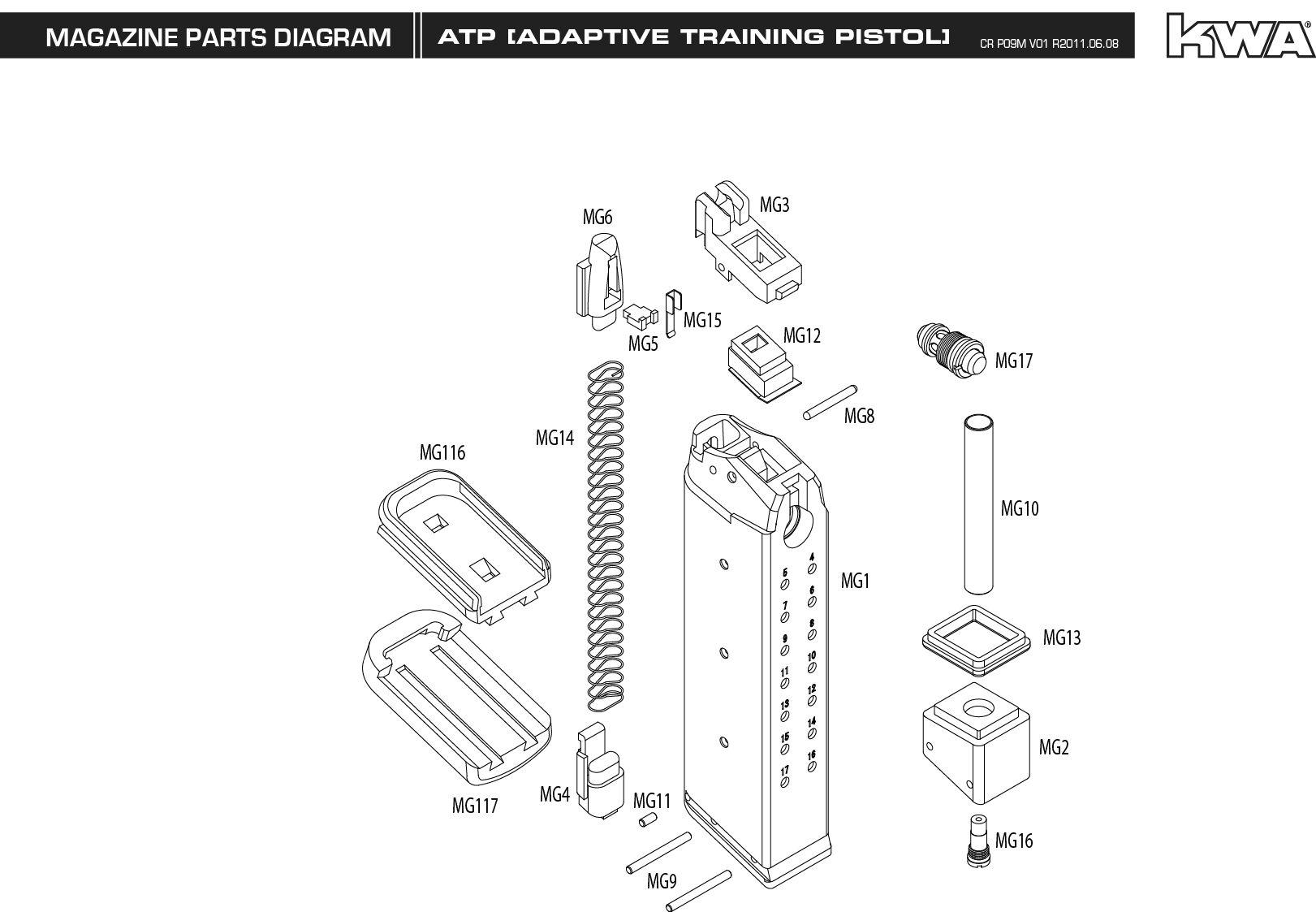 m u0026p 40 diagram