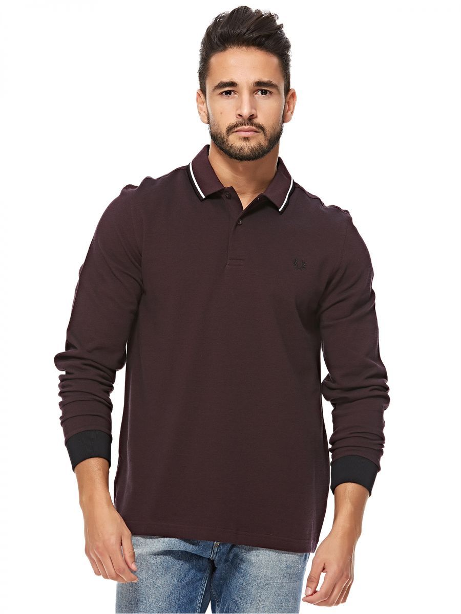 de648b4f3 Buy Fred Perry Maroon Shirt Neck Polo For Men - Tops