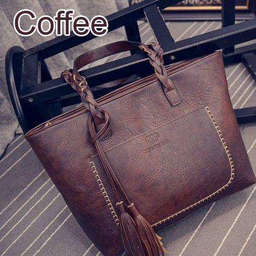 99a6a7ba61bd85 Women Vintage Bags Retro PU Leather Tote Bag For Girls Large China Handbags  Women Tassel Casual Hand Bag Shoulder Sac Femme 704
