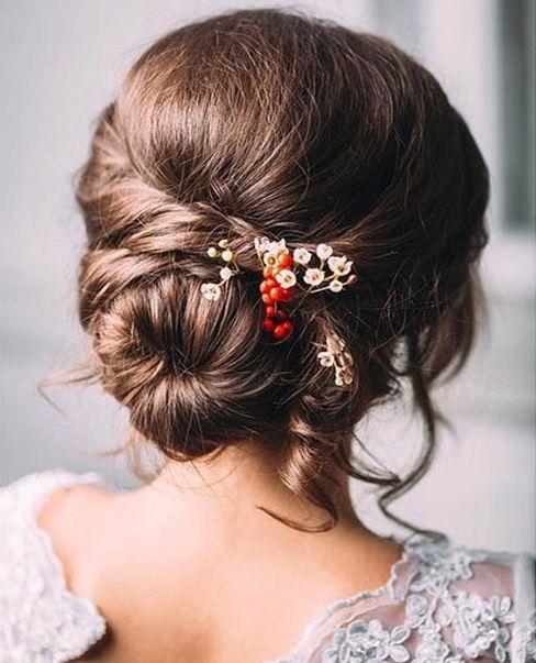 Low Bun Pretty Wedding Hairstyles 2015