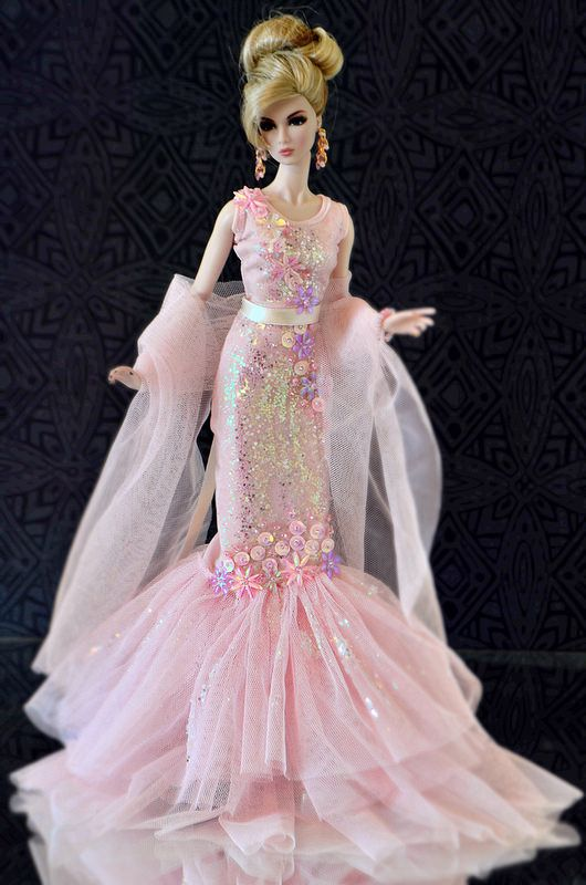Fashion Outfit Dress Winter Party Gown for Barbie Dolls Clothes X-mas Gift Girls