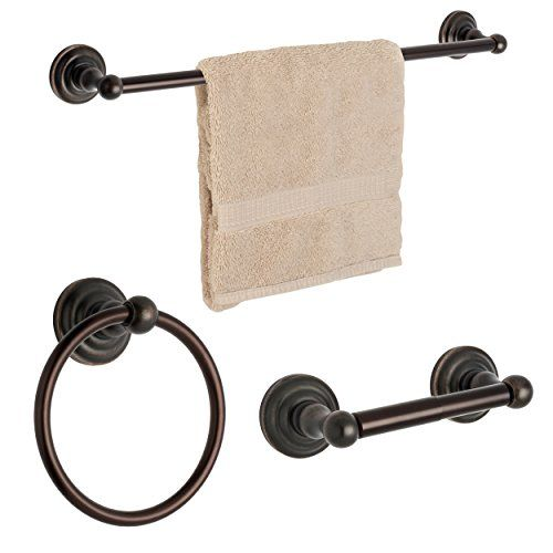 Dynasty Hardware 3800ORB3PC Palisades Series Bathroom Hardware Set Oil  Rubbed Bronze 3Piece Set With 24 Towel Bar *** Click Image For More Details.