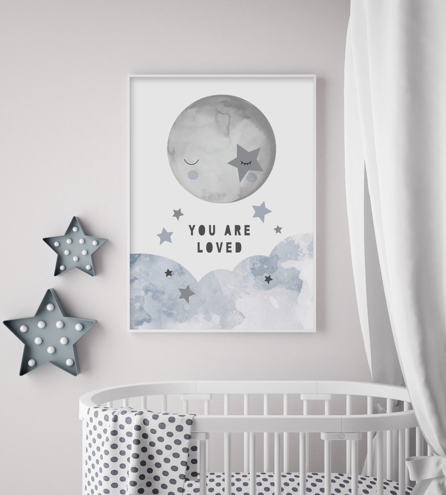 Whimsical Sky  Nursery Print  Wall Art  Baby