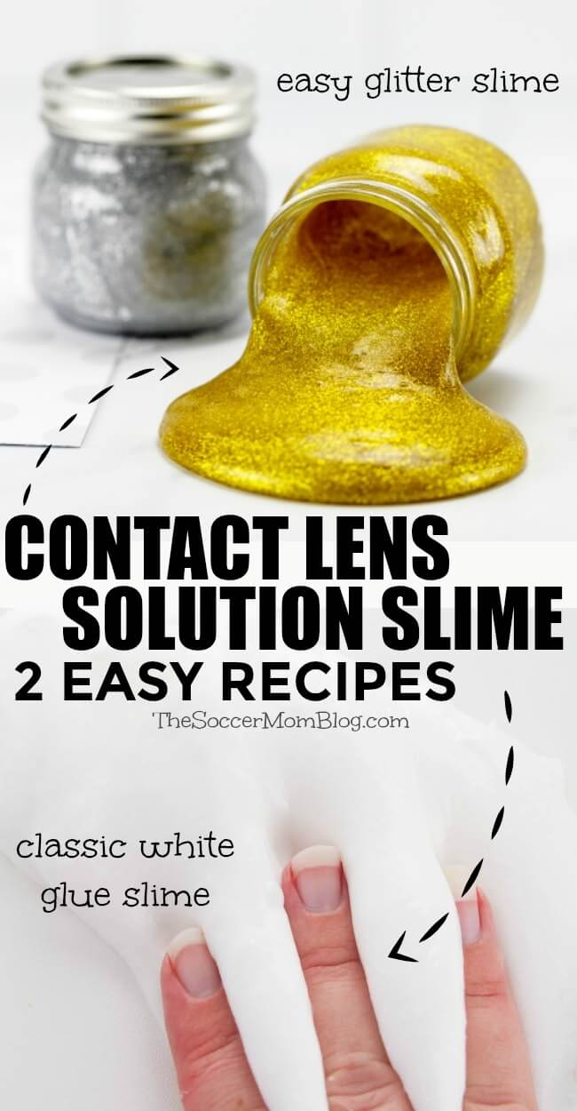 How To Make Slime With Contact Solution 2 Easy Ways In 2020 Slime With Contact Solution Contact Lens Solution Slime Slime