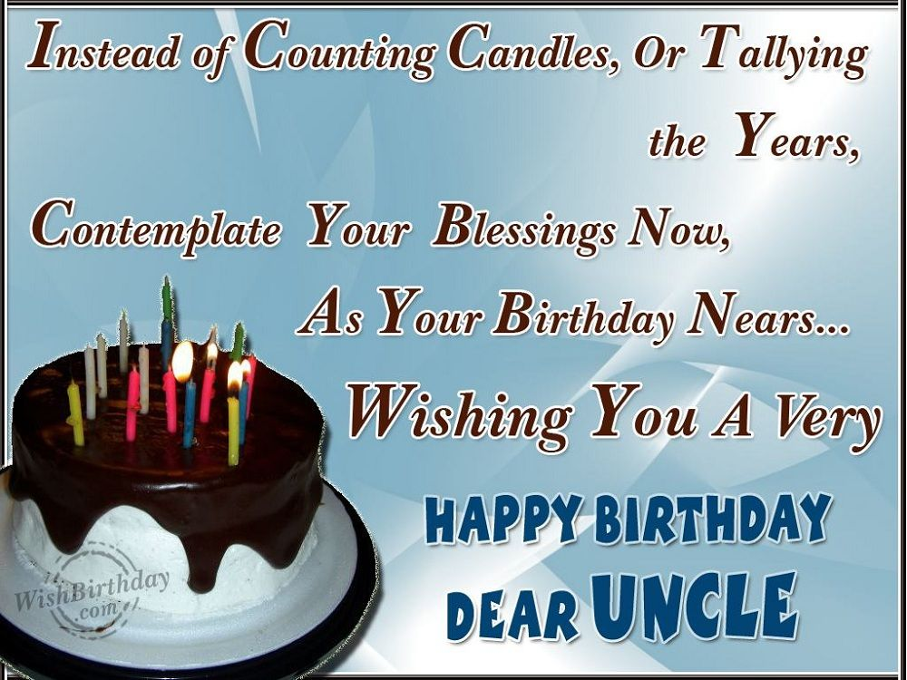 Birthday Cards Uncle ~ Happy birthday uncle quotes happy birthday uncle