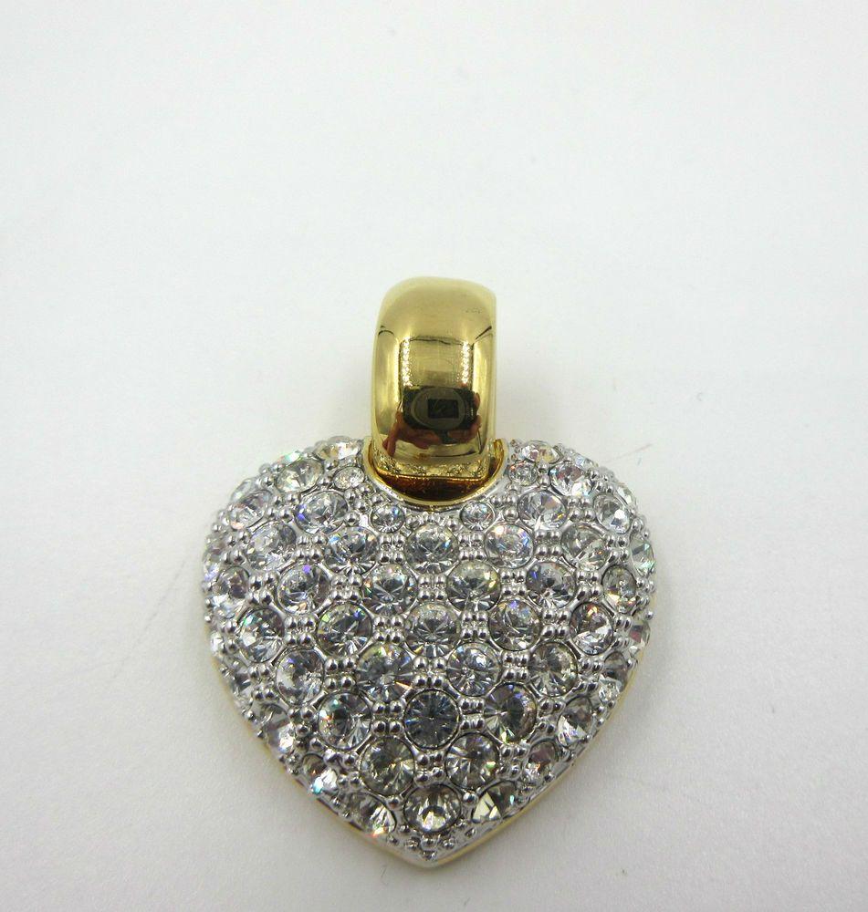 Swarovski Crystal Heart Pendant Enhancer Nolan Miller Glamour Collection GP #NoalnMiller