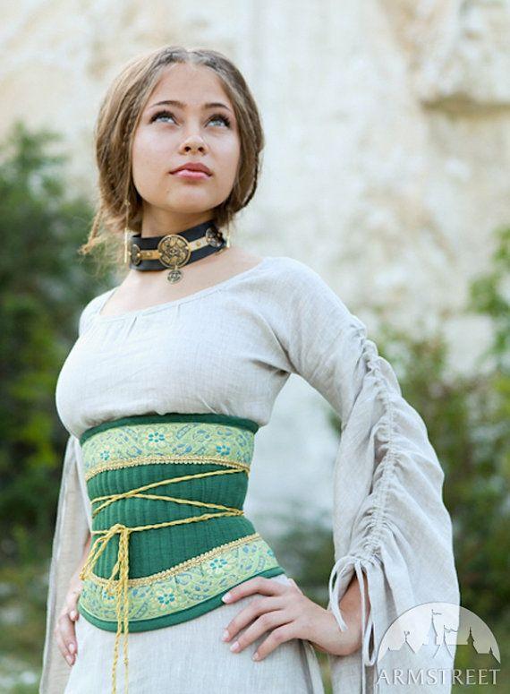 224e8853a0 20% DISCOUNT! Medieval Renaissance Linen Corset Belt
