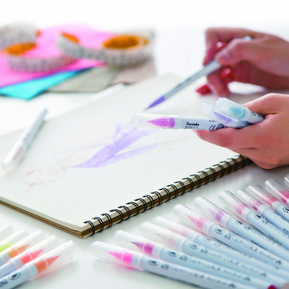 Kuretake Zig Clean Color Real Brush Pen 24 Color Set Kuretake
