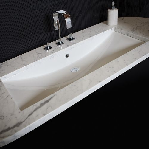 Lacava 4251UN-001 White Piazza Collection Undercounter Porcelain Lavatory W/ Overflow - Decor Island