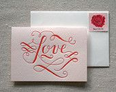 """Love"" letterpress card"