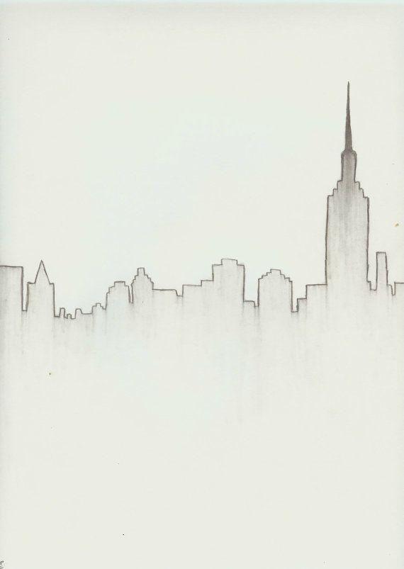 New York City Skyline Download | Dibujo, Lápiz y Dibujar