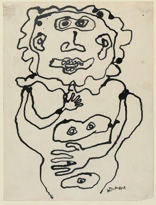 Jean Dubuffet. Personnage (Femme nue). (1951)