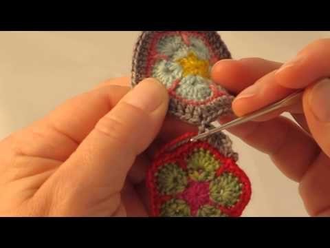 Crochet African Flower Tutorial Part One Bella Coco Youtube