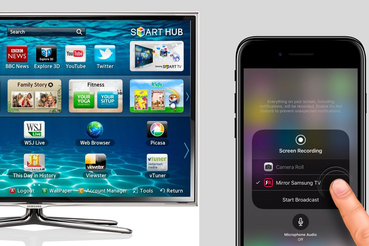 Now you can stream iphone video to samsung smart tvs