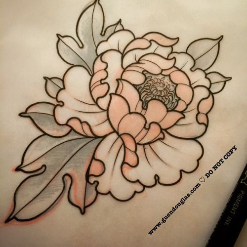 Peony Line Drawing Tattoo : Image result for peony tattoo c section pinterest