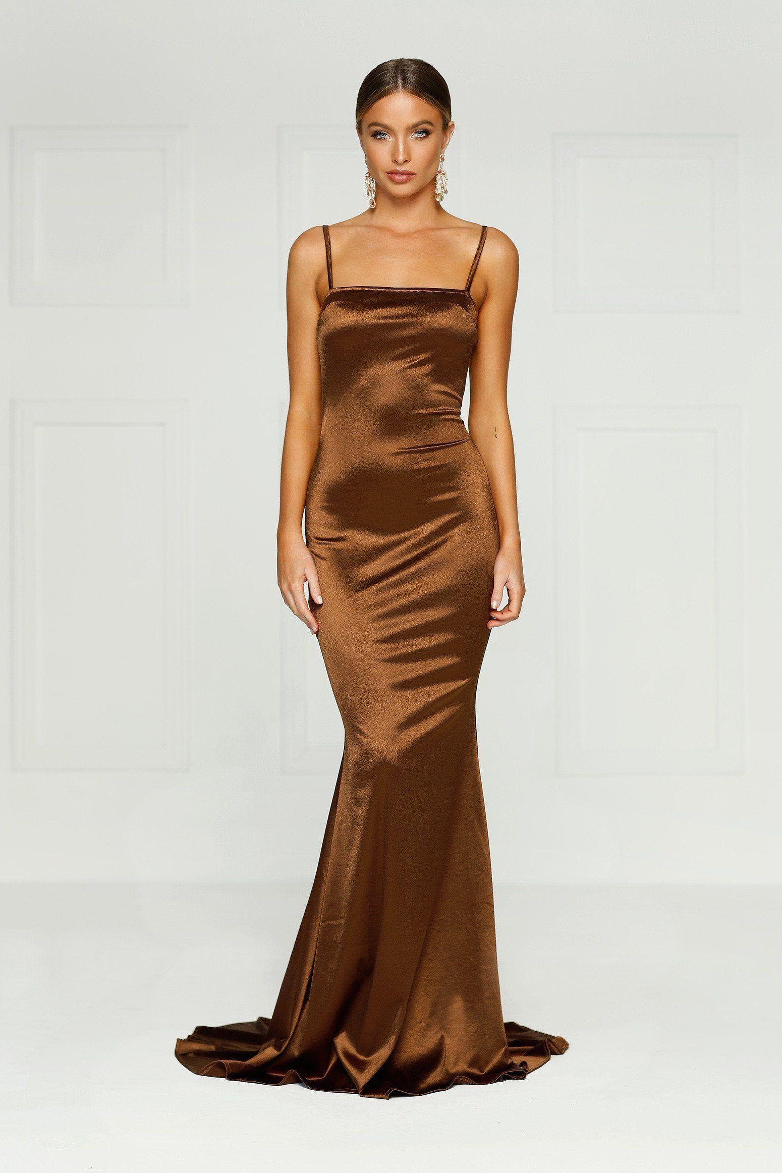 5c942ff8c03 Sexy satin stretch slip dress