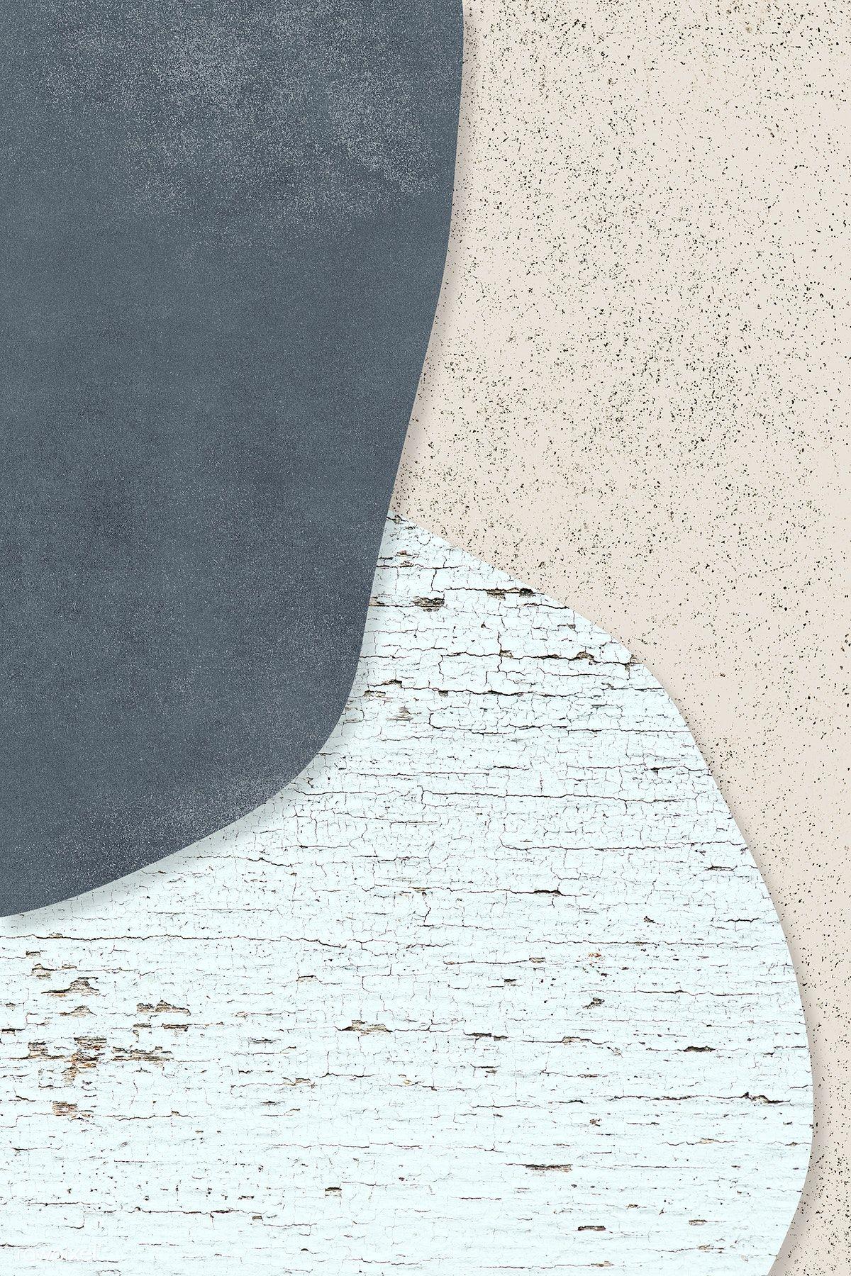 Download premium illustration of Blue pattern on beige