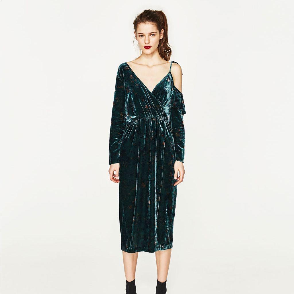 Zara velvet dress products