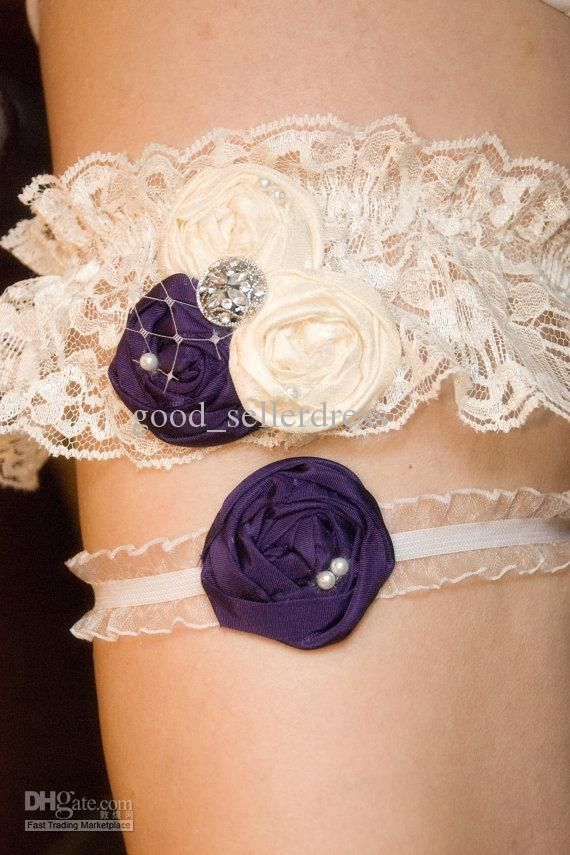 Garter Love The Dark Purple And Off White Yes Yes And Yes