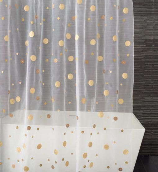 Gold Dots Shower Curtain Classy Idea For A Fsu Bathroom Diy