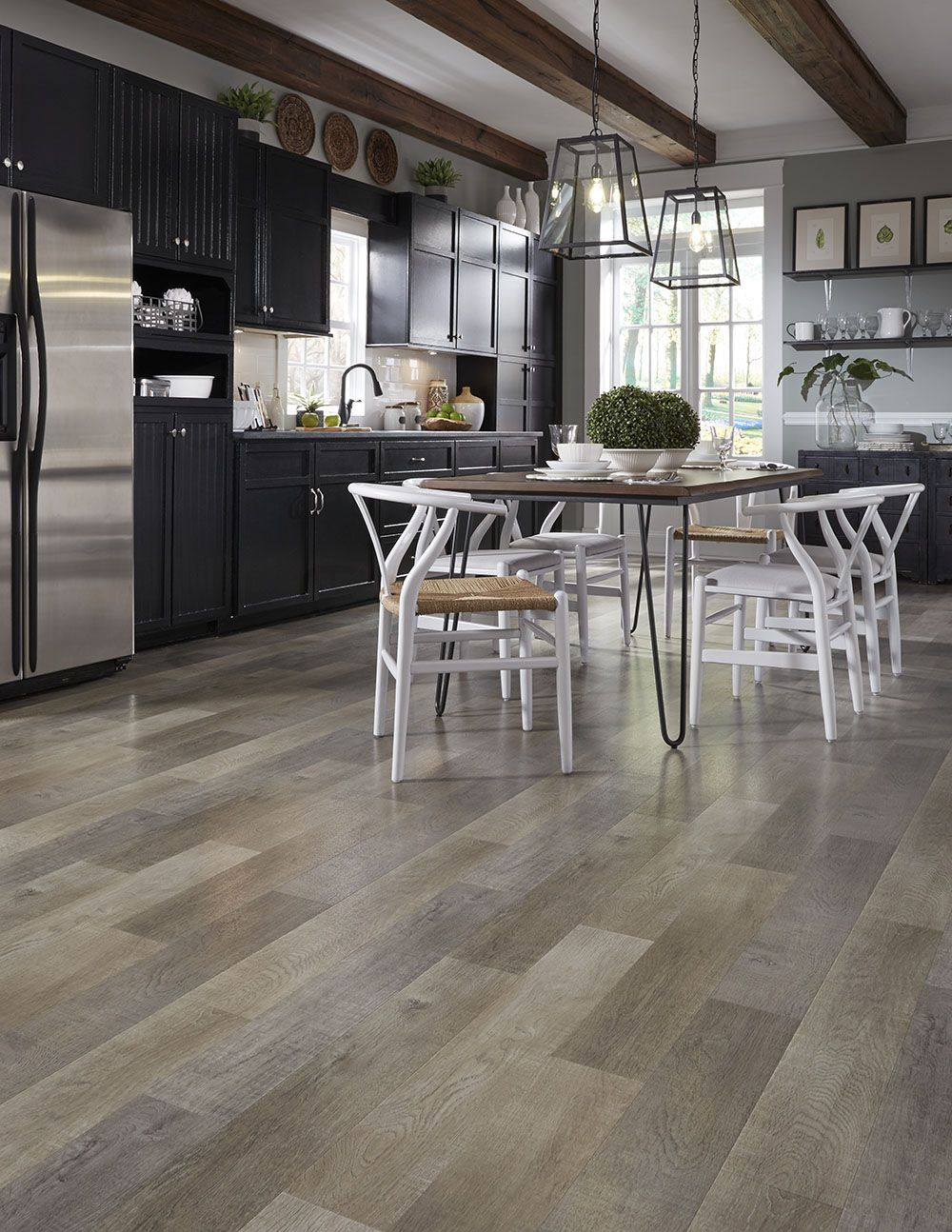 Have You Seen This Beauty Millcreek Lvs Is A Chic Modern Wood Look Inspired By Reclaimedtimber F Stylish Flooring Vinyl Flooring Kitchen Vinyl Sheet Flooring