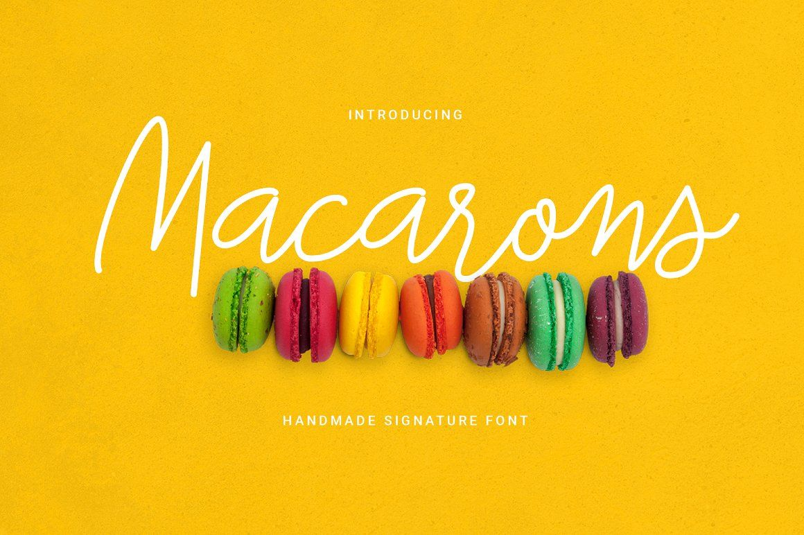 Macarons Font and Extras by lovepower on @creativemarket