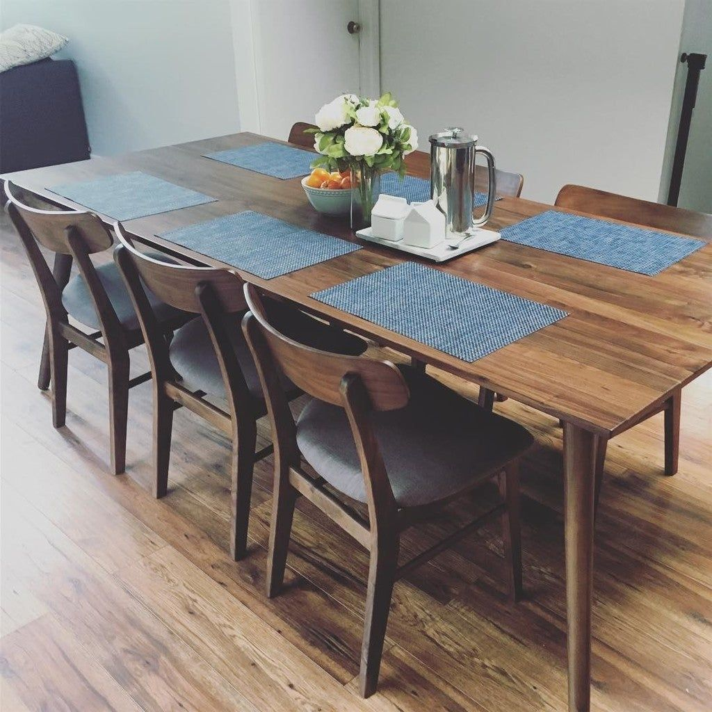 Ecole Mist Gray Oak Dining Chair In 2020 Narrow Dining Tables Walnut Dining Table Mid Century Dining Table