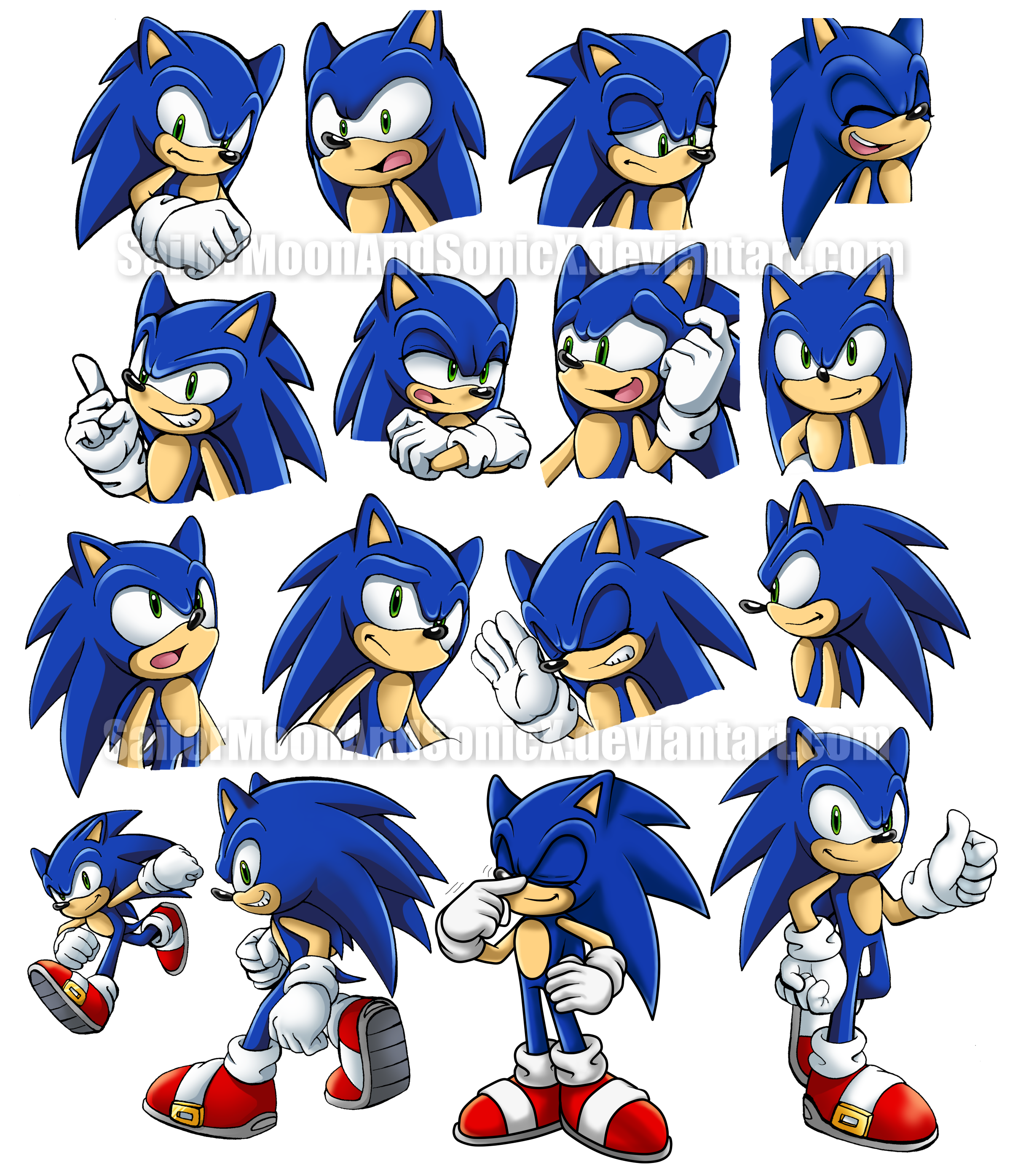 how to draw sonic from sonic cd