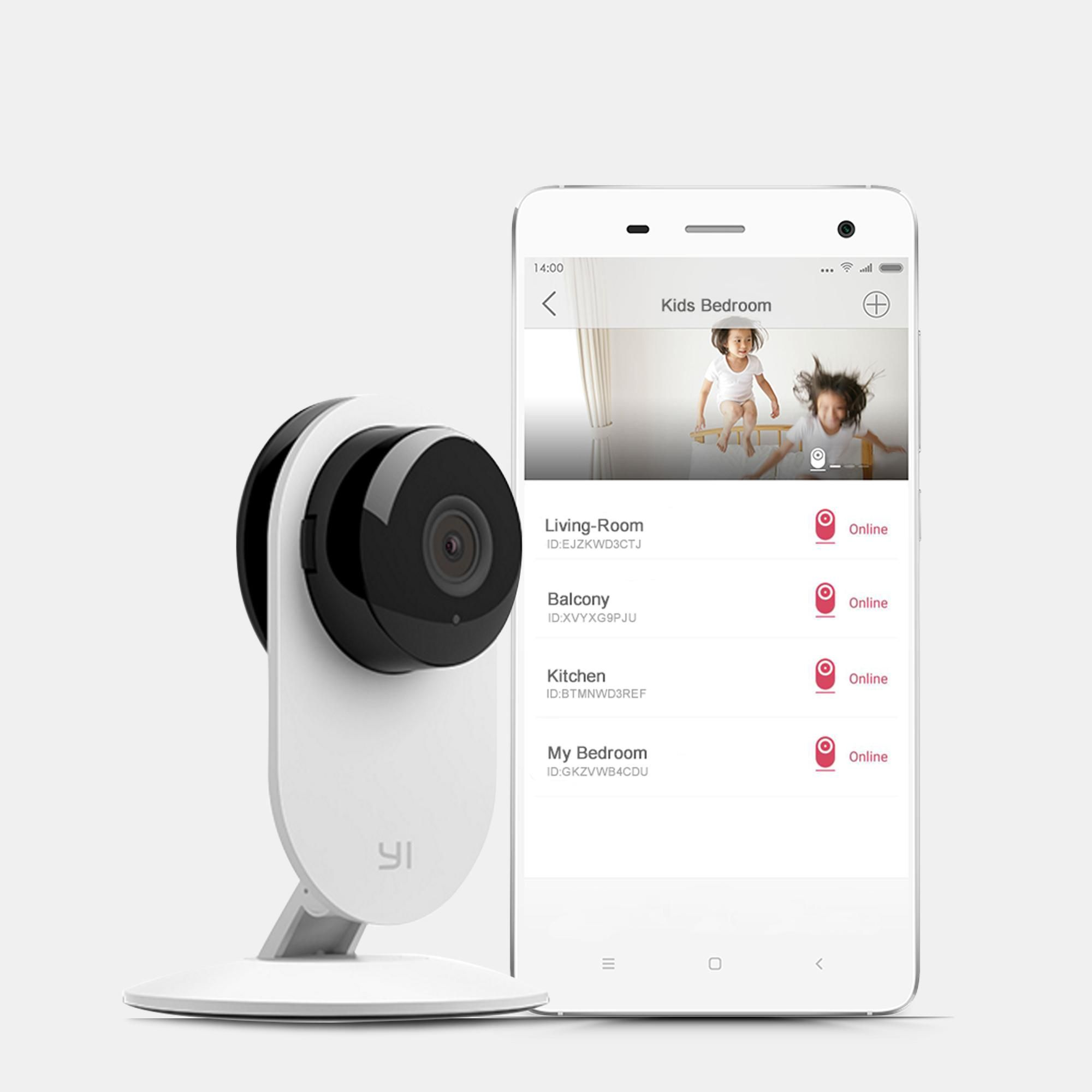 Cloud Service Available Night Vision for Baby // Pet // Front Porch Monitor Wi-Fi IP Indoor Security System with Motion Detection PC App Remote Control with iOS White Android YI Home Camera