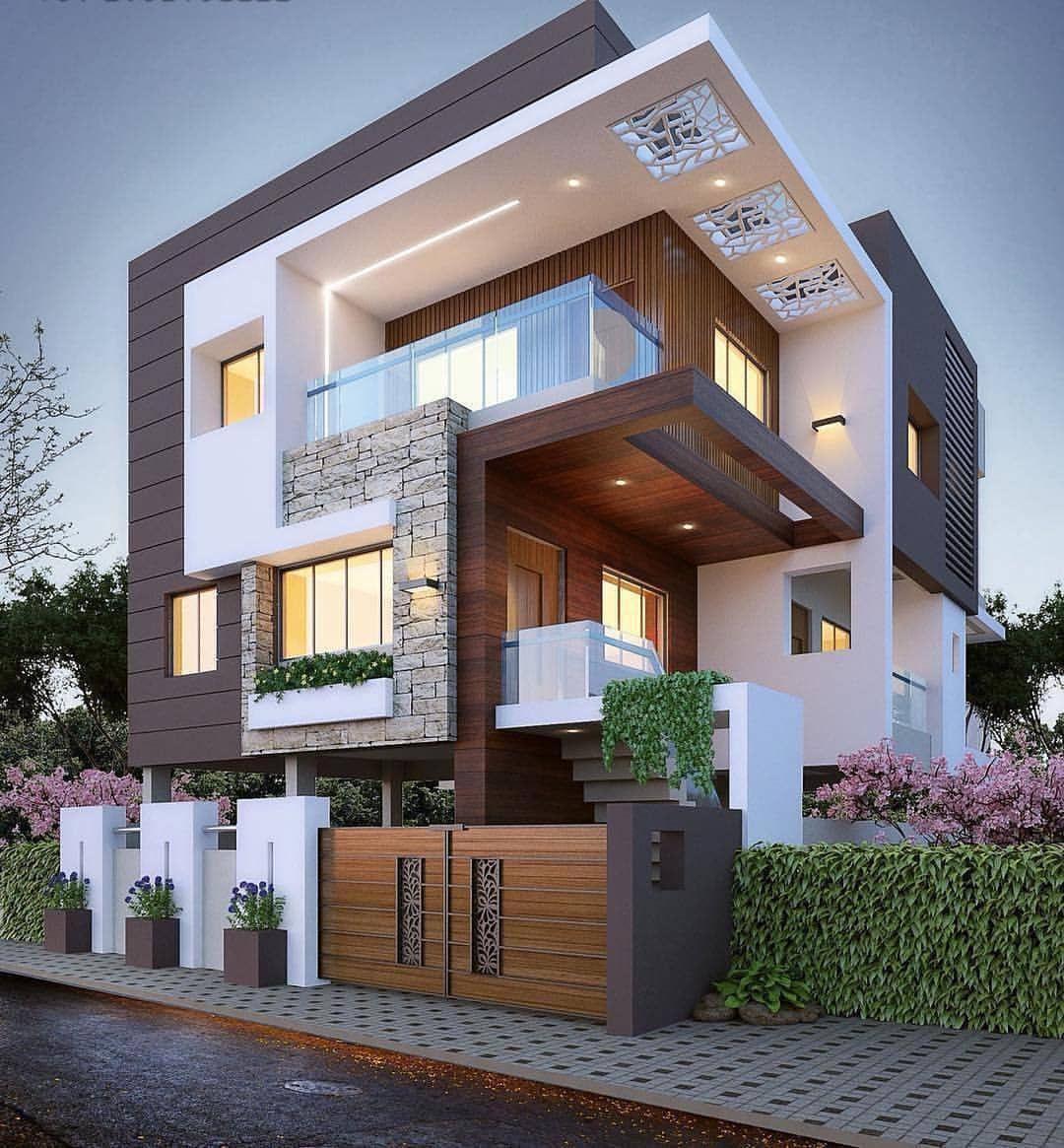 Que Casa Mais Maravilhosa, Essa Fachada Com Mistura De