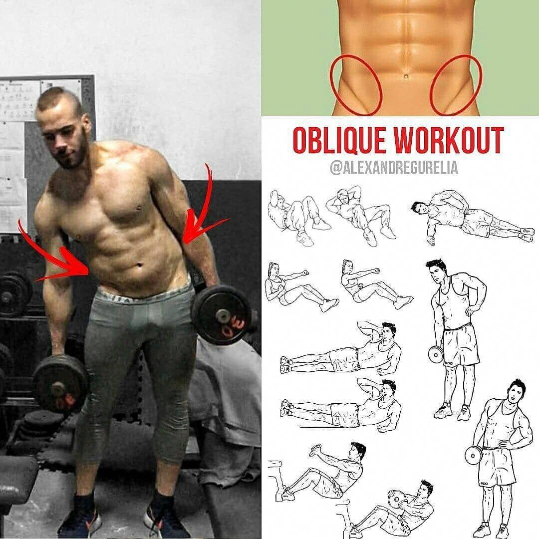 rutina de oblicuos en el gym