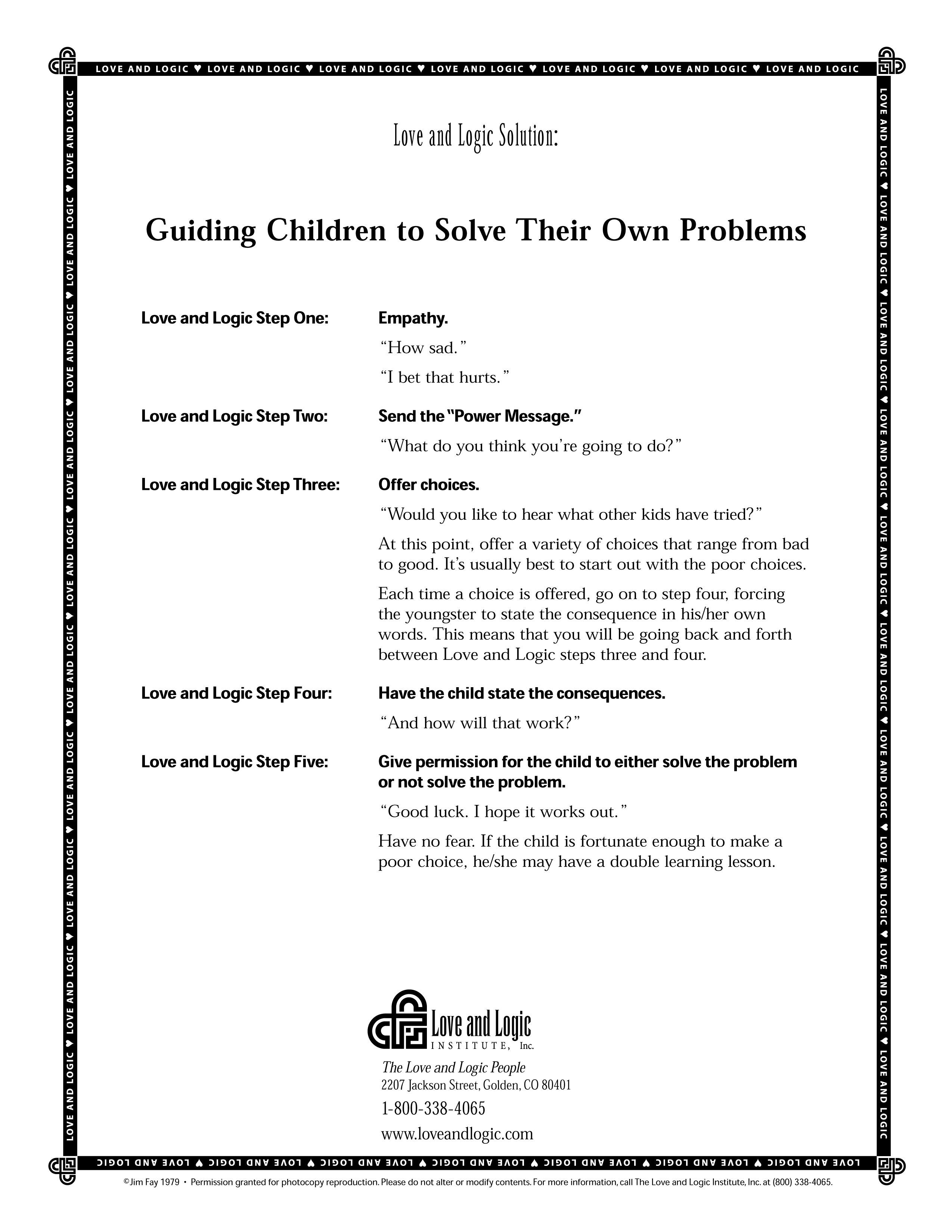 How To Guide Your Children To Solve Their Own Problems