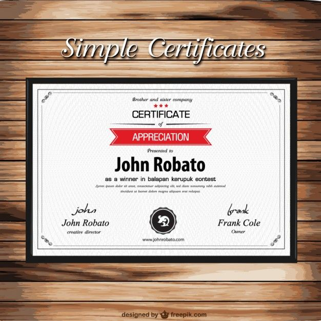 Certificate template on wooden texture free vector certificate certificate template on wooden texture free vector yadclub Images