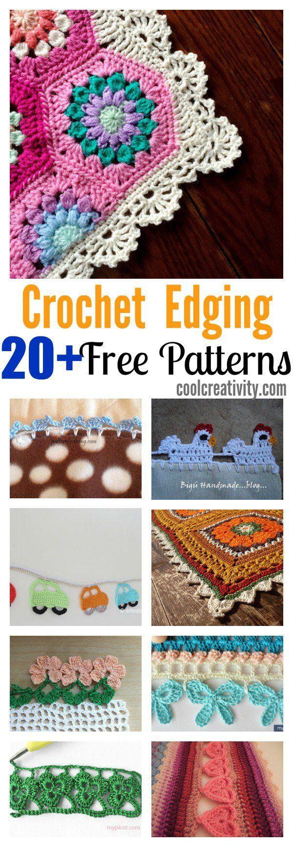 20 + Crochet Free Edging Patterns You Should Know | Patrón de ...