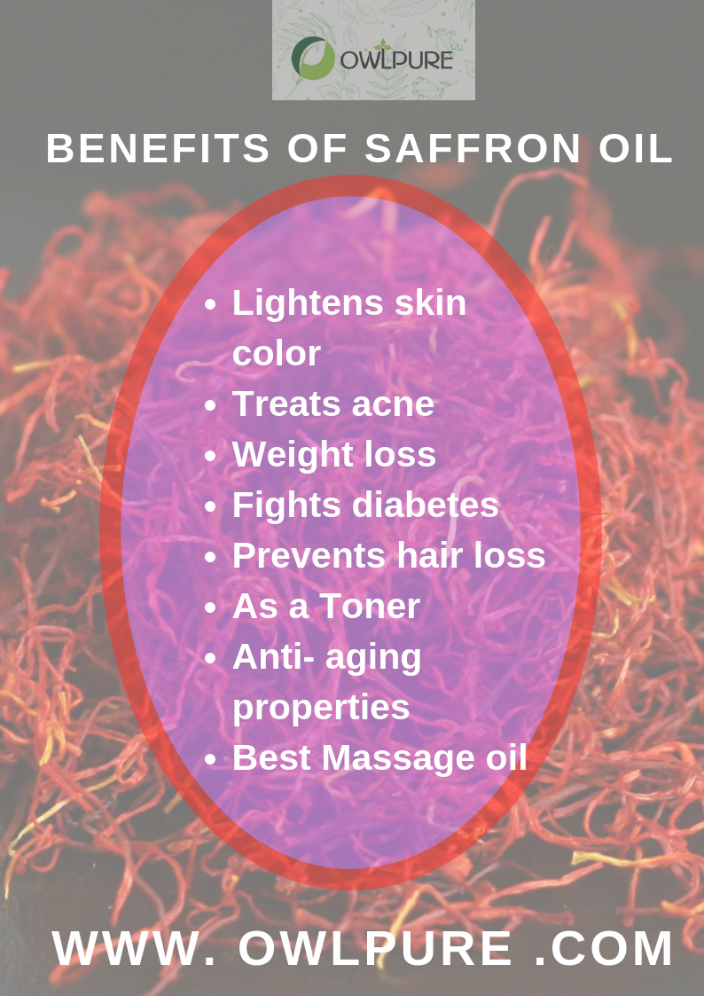benefits of saffron oil | natural organic beauty products