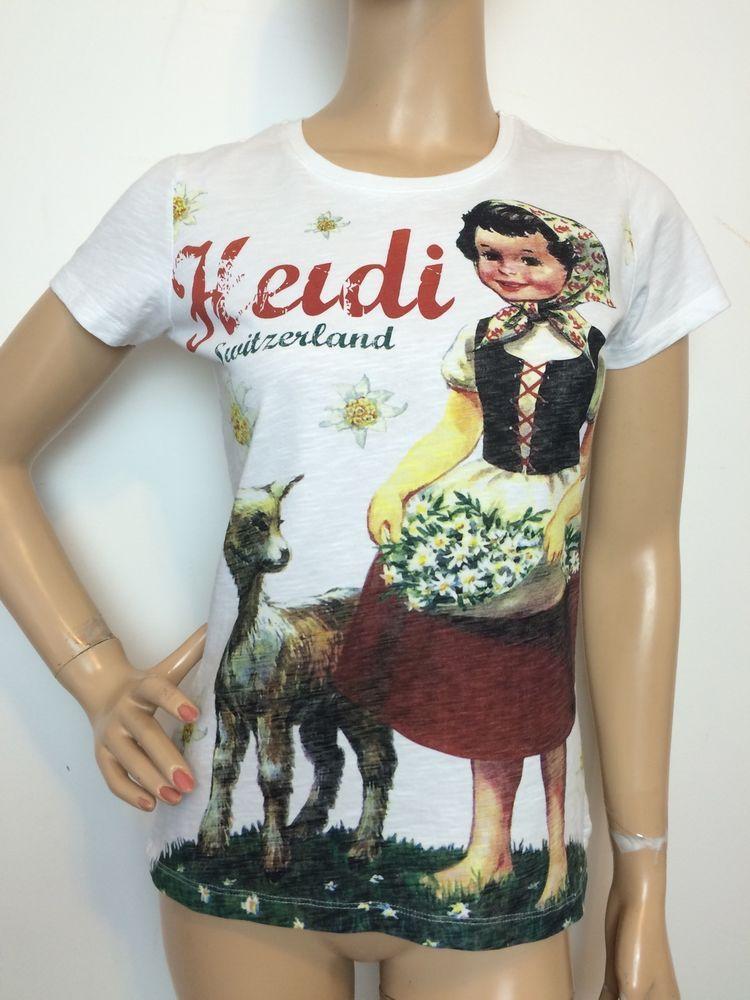 92831bcb8516 Switcher Switzerland Heidi Girl of The Alps T Shirt Small Women s Tee
