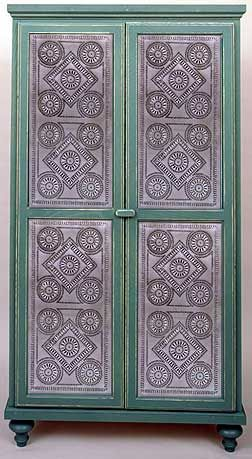 Cabinet Created By Jim Bi Cabinets Punched Tin Panels Made To Order Design Rp 1017a